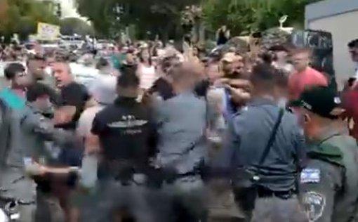 Ожесточенный протест у дома Беннета в Раанане