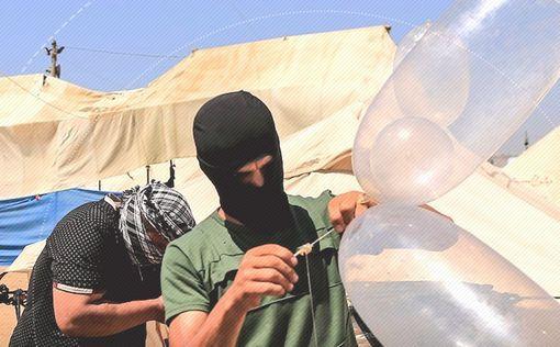 Ночной террор: массовый запуск зажигательных шаров из Газы